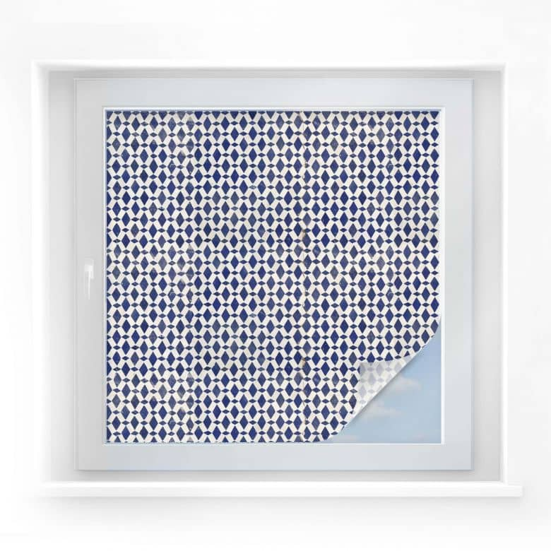 Sichtschutzfolie Holland-Kacheln 02 - quadratisch