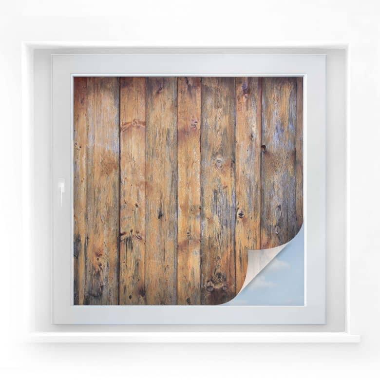 Sichtschutzfolie Holzpaneele 01 - quadratisch