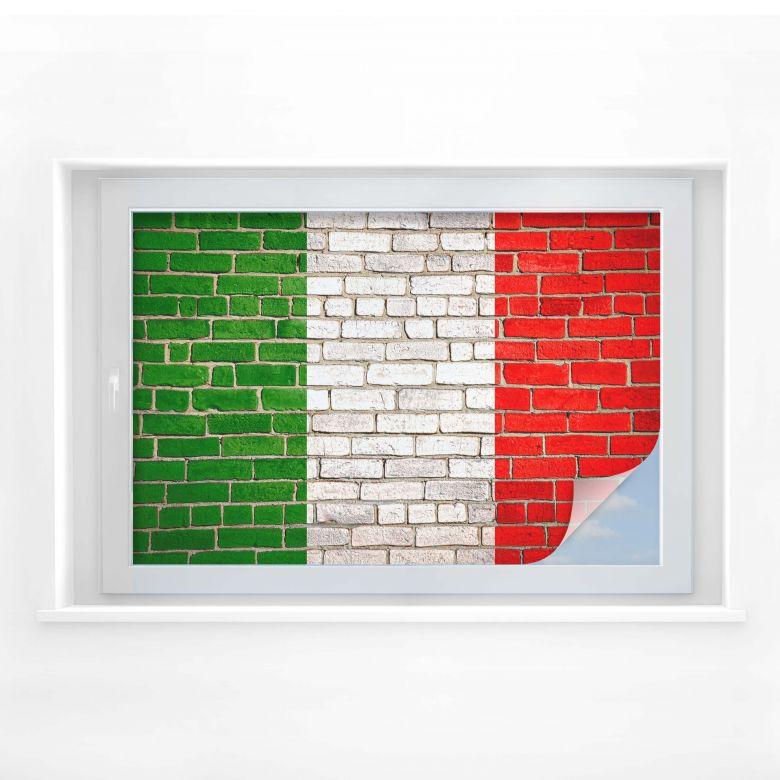 Sichtschutzfolie Italienische Flagge Mauer