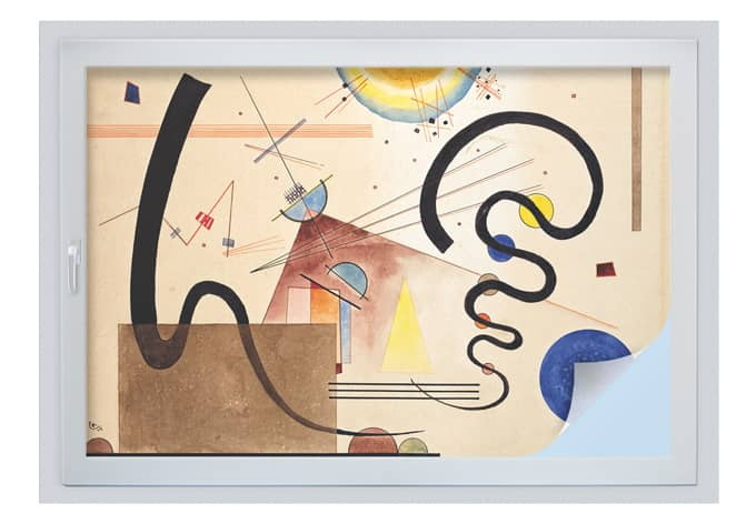 Sichtschutzfolie Kandinsky - Zwei Bewegungen