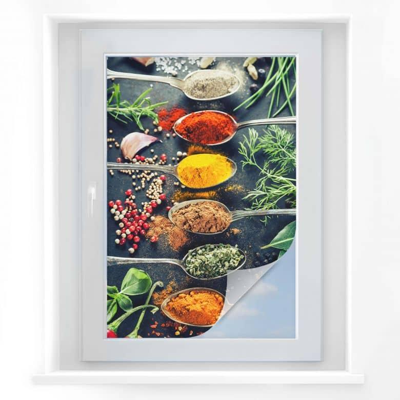 Pellicola adesiva per vetri - varietà di erbe 01