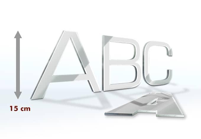 Decorative Letters Mirror 15 cm
