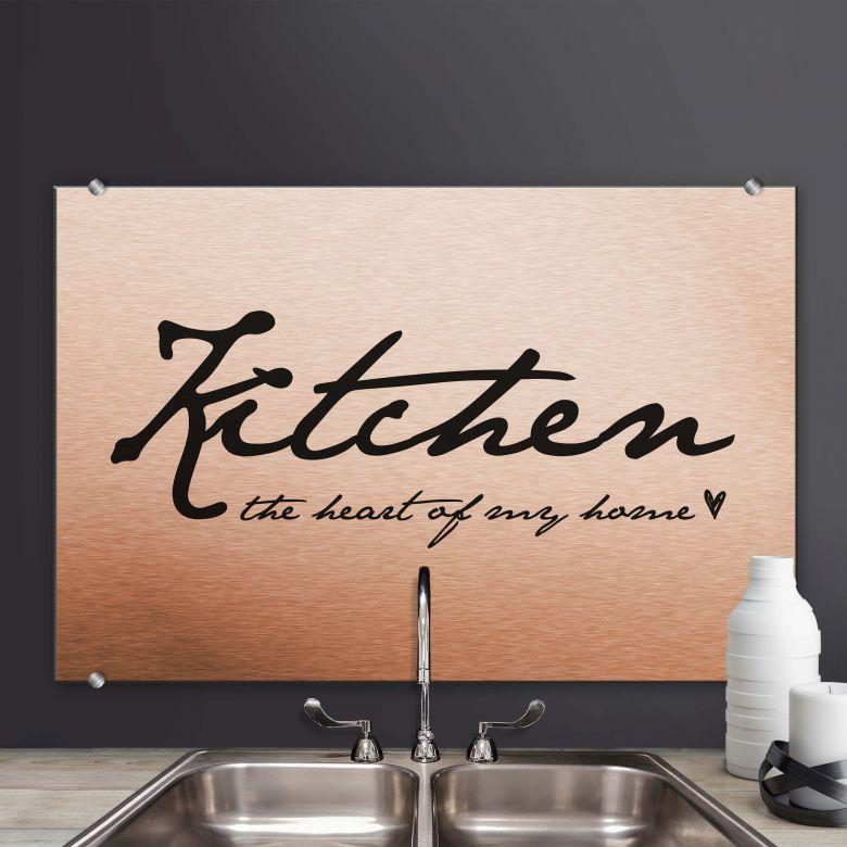 Spritzschutz Kitchen - The Heart of my Home
