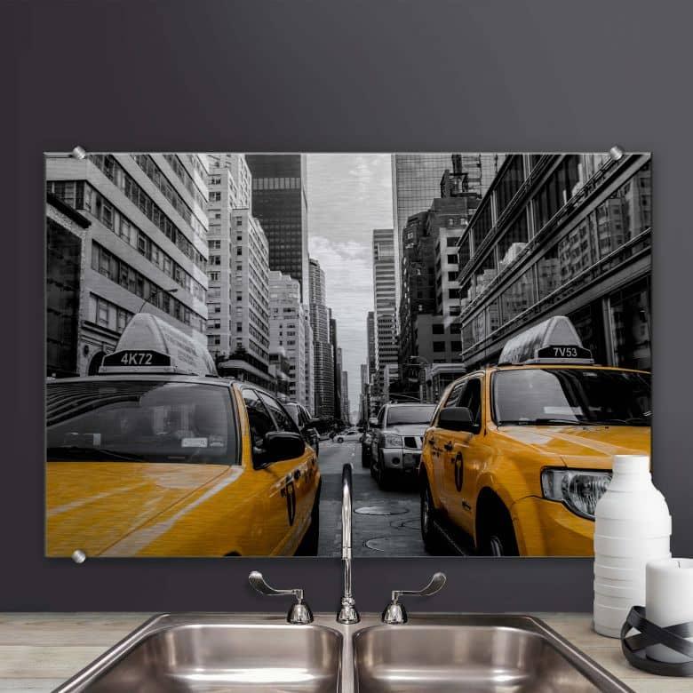 Spritzschutz Streets in New York City