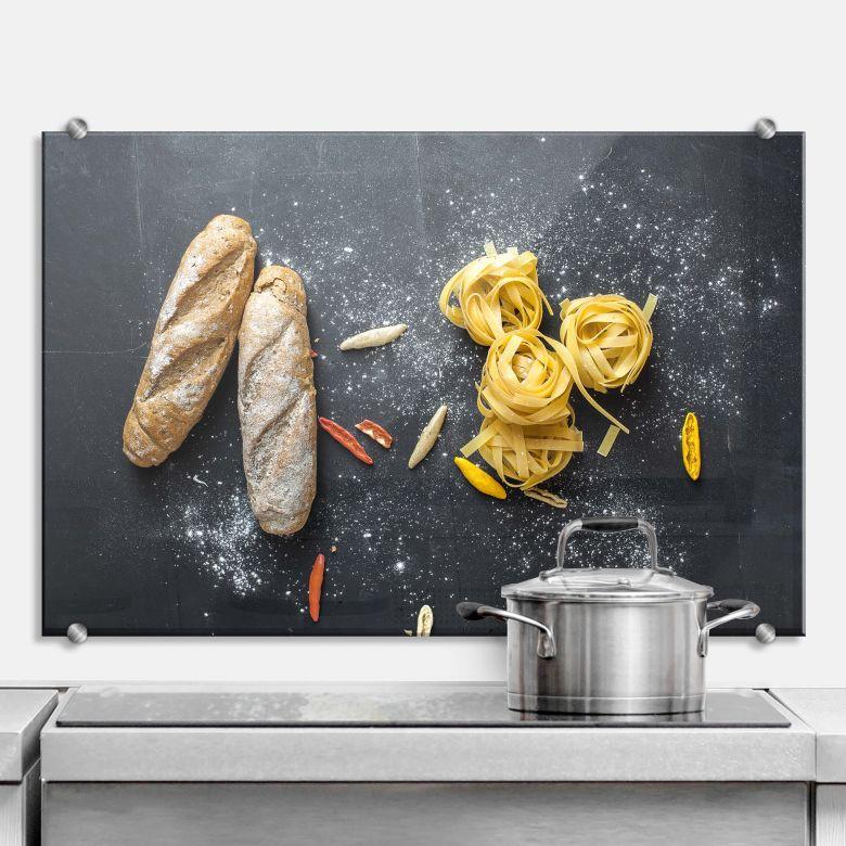 Spritzschutz Bread and Pasta