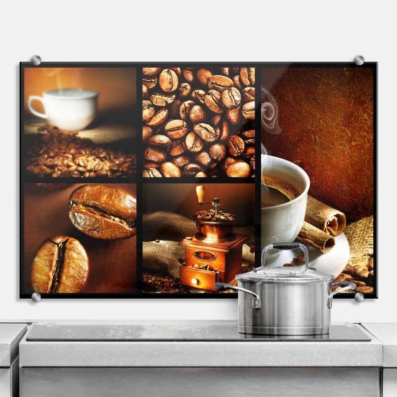 spritzschutz enjoy coffee perfekt f r die k che wall. Black Bedroom Furniture Sets. Home Design Ideas
