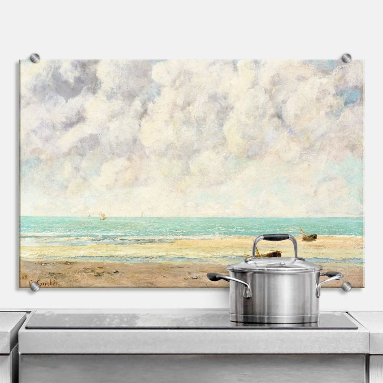 Spritzschutz Courbet - Die ruhige See