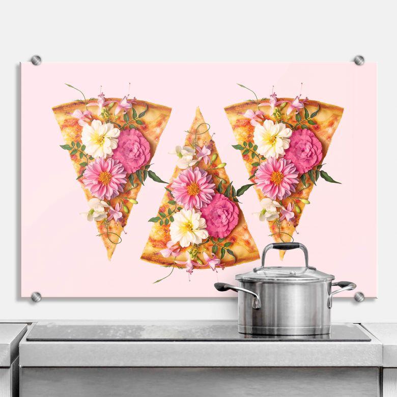 Pannello paraschizzi Fuentes – Pizza ai fiori