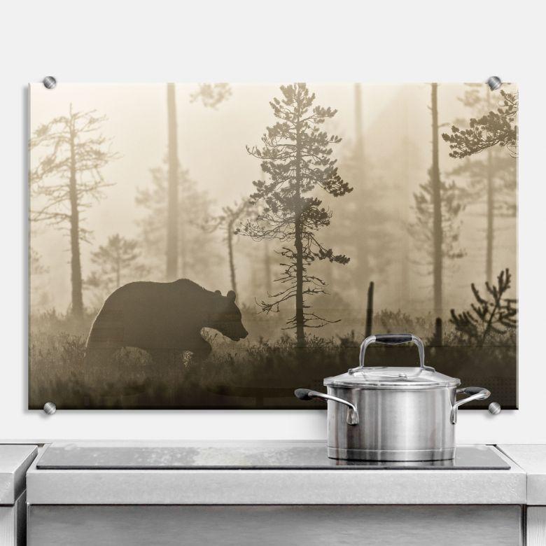 Spritzschutz Ove Linde - Nebel am Morgen
