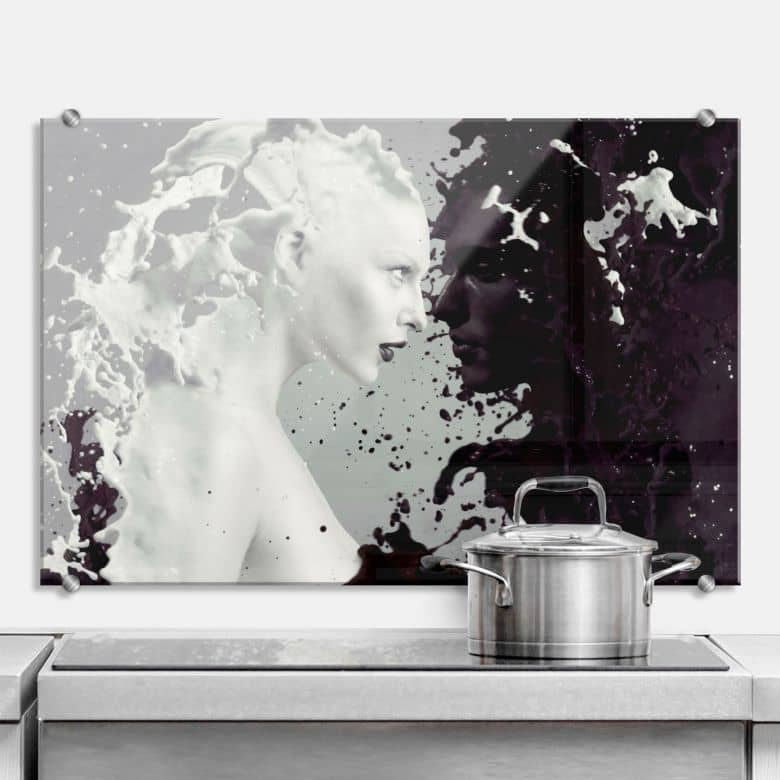 Milk & Coffee - Kitchen Splashback