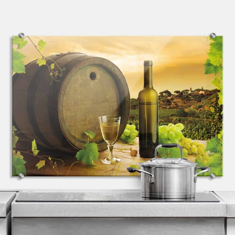 White Wine - Kitchen Splashback
