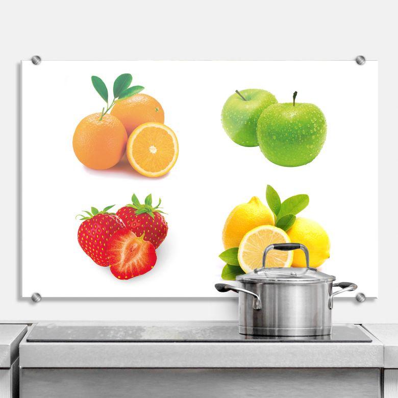 Küchenrückwand Obst Set