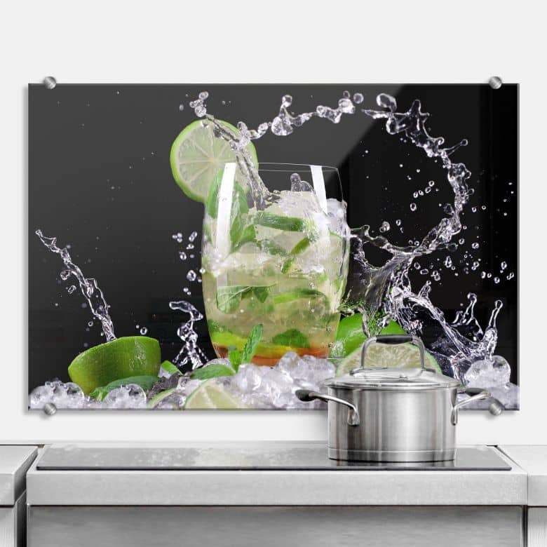 splashing mojito kitchen splashback wall. Black Bedroom Furniture Sets. Home Design Ideas