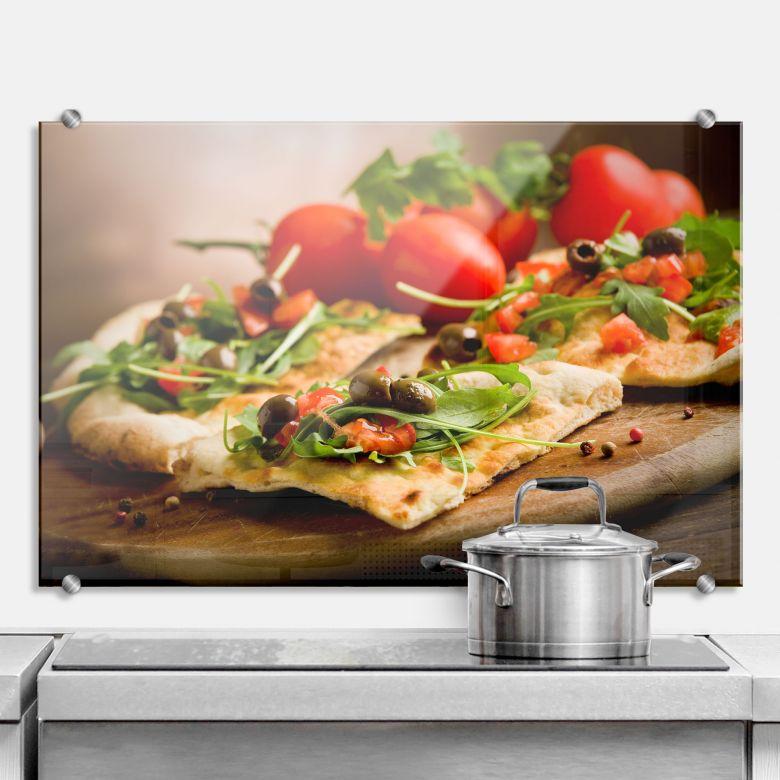 spritzschutz pizza all 39 italiana perfekt f r die k che. Black Bedroom Furniture Sets. Home Design Ideas