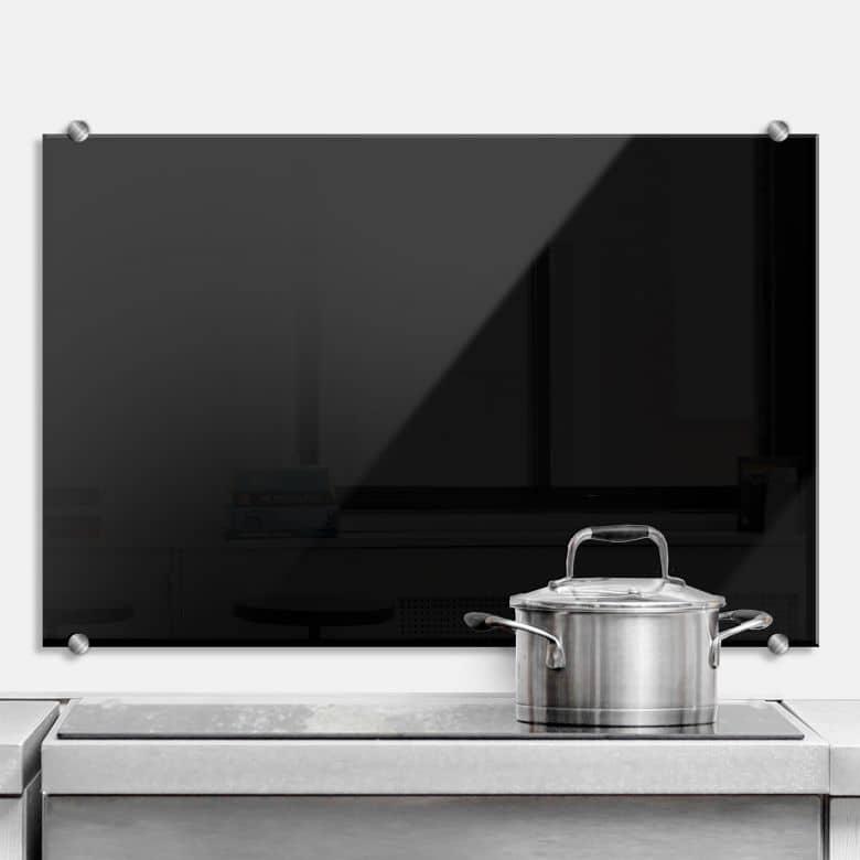 Black K3 4F - Kitchen Splashback