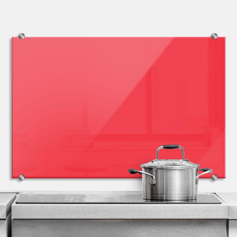 Küchenrückwand in rot für die Küche   wall-art.de