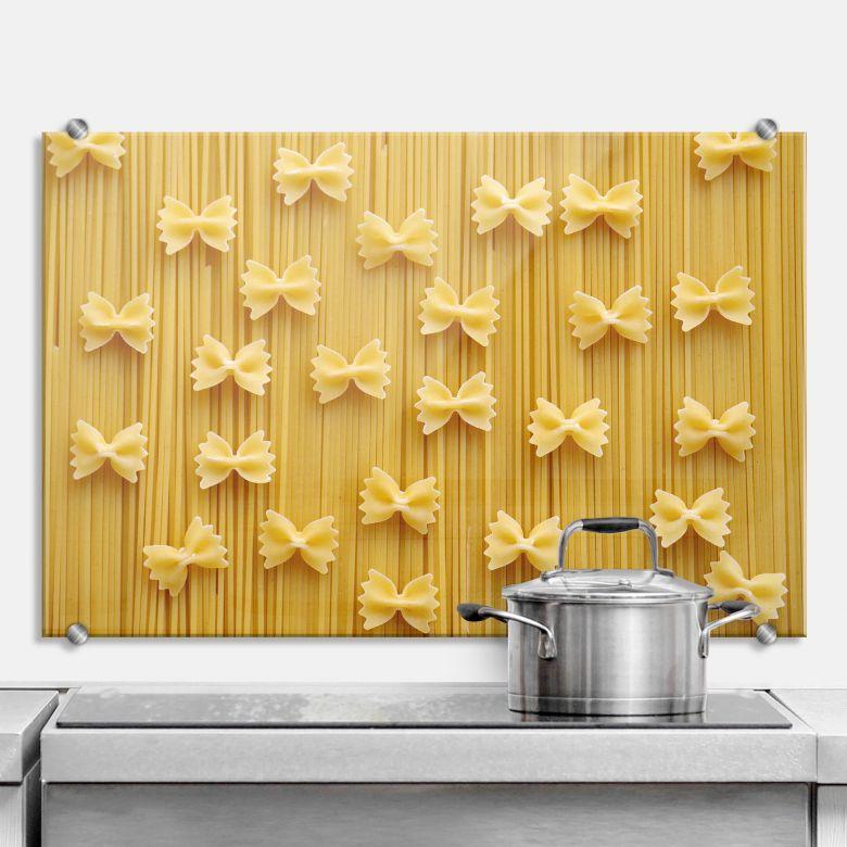 Spritzschutz Spaghetti und Nudelschleifen