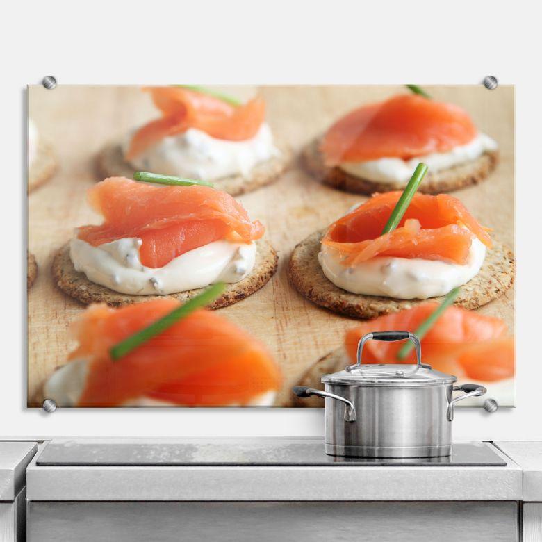 Spritzschutz Salmon Appetizer