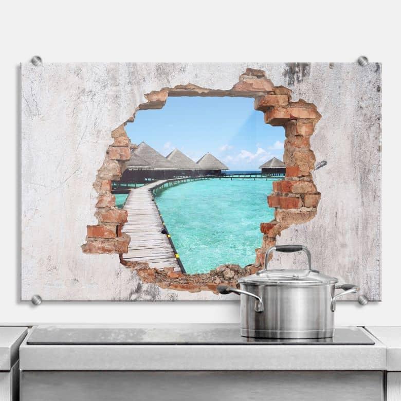 Paraschizzi effetto 3D - Spiaggia delle Maldive