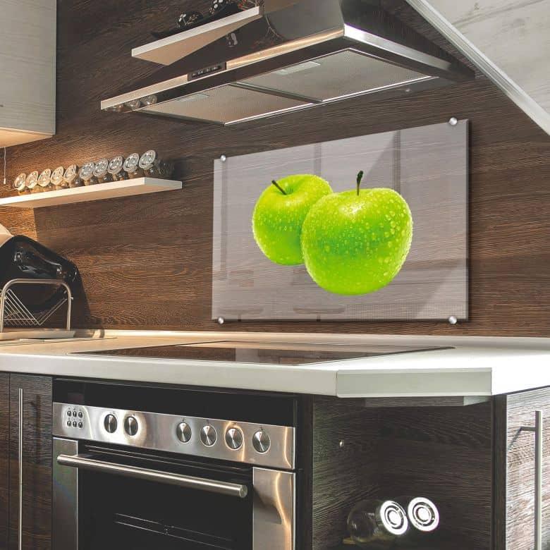 Spritzschutz - Green Apple - Transparent