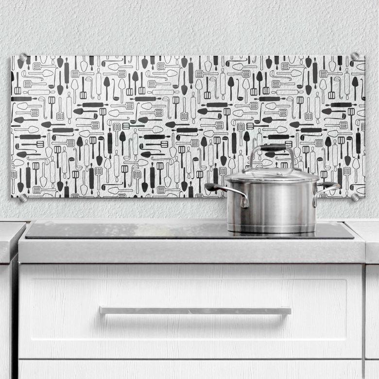 Spritzschutz transparent Cooking time - Panorama