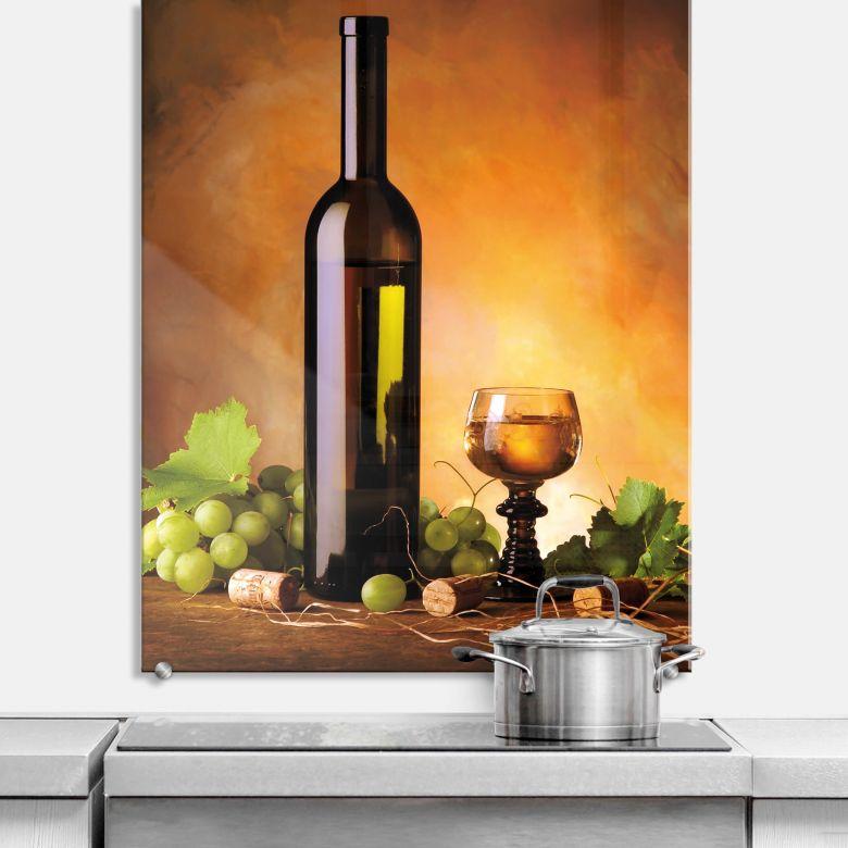 Spritzschutz Weißwein - hochkant