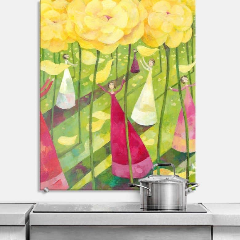 Spritzschutz Blanz - Blumenwiese