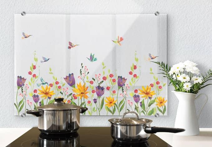Spritzschutz transparent Blanz - Blütenpoesie