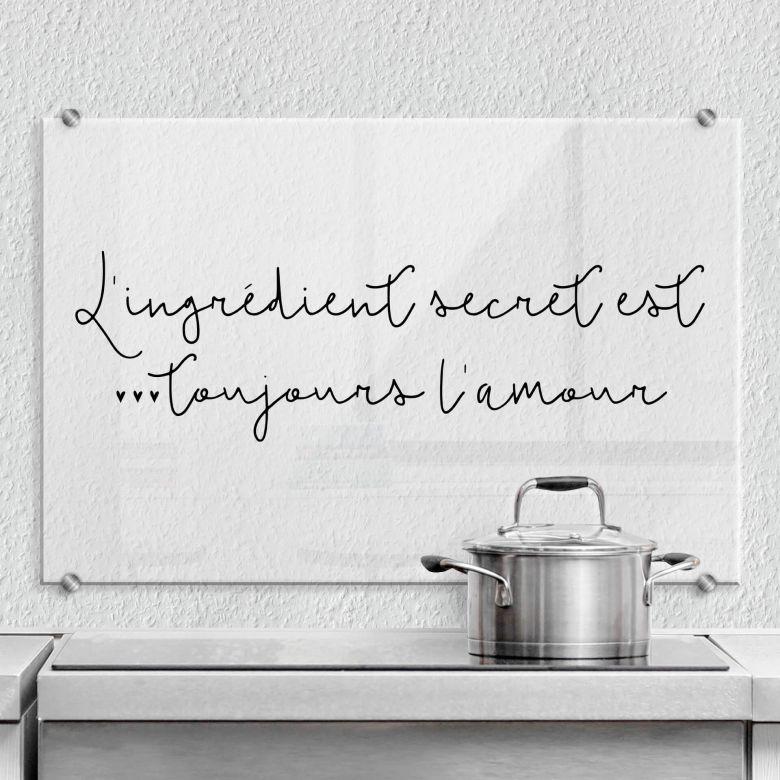 Spatscherm L'ingrédient secret est toujours l'amour