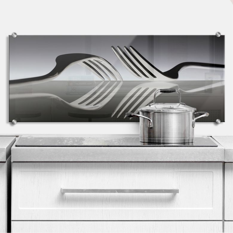 Spritzschutz De Kogel - Silverware Reflection - Panorama
