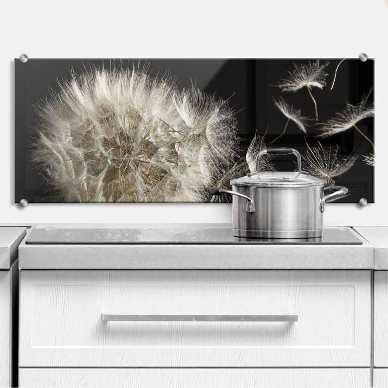 spritzschutz pusteblume panorama wall. Black Bedroom Furniture Sets. Home Design Ideas