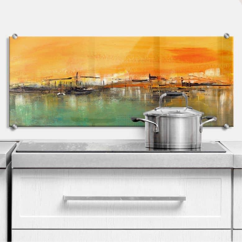 Küchenrückwand Niksic - Am Wasser - Panorama