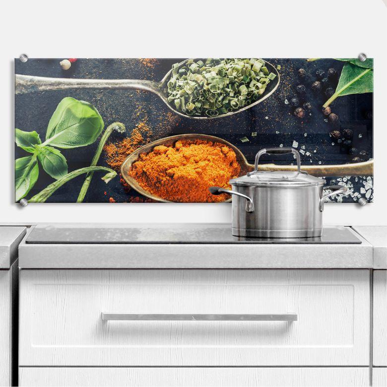 Variety of Spices 3 - Panorama - Kitchen Splashback