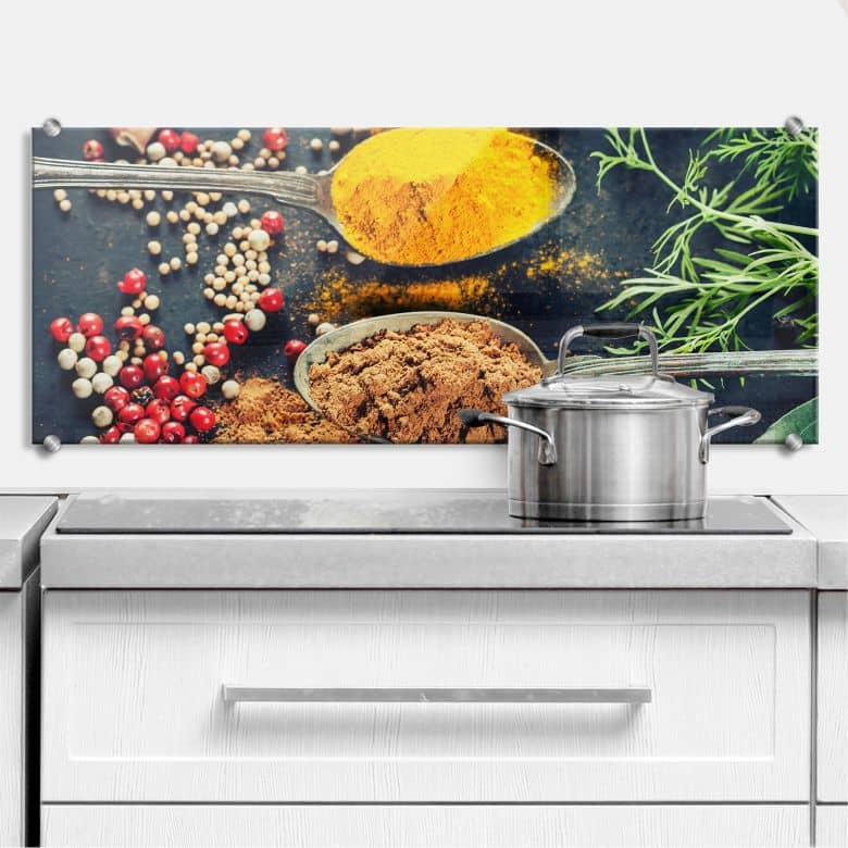 Variety of Spices 4 - Panorama - Kitchen Splashback