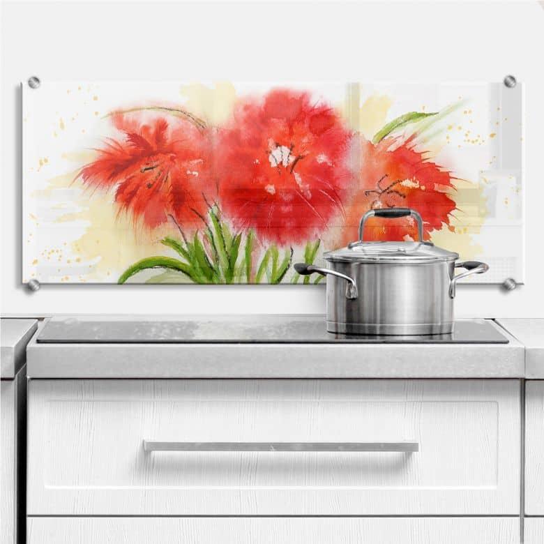 Küchenrückwand Toetzke - Aquarell Studie - Panorama