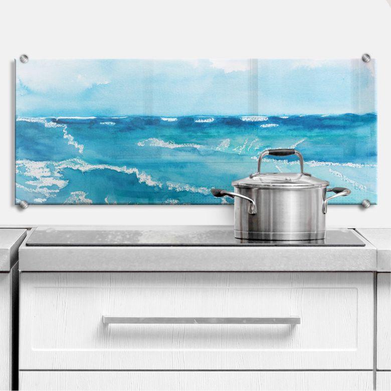 Küchenrückwand Toetzke - Meeresrausch - Panorama 2