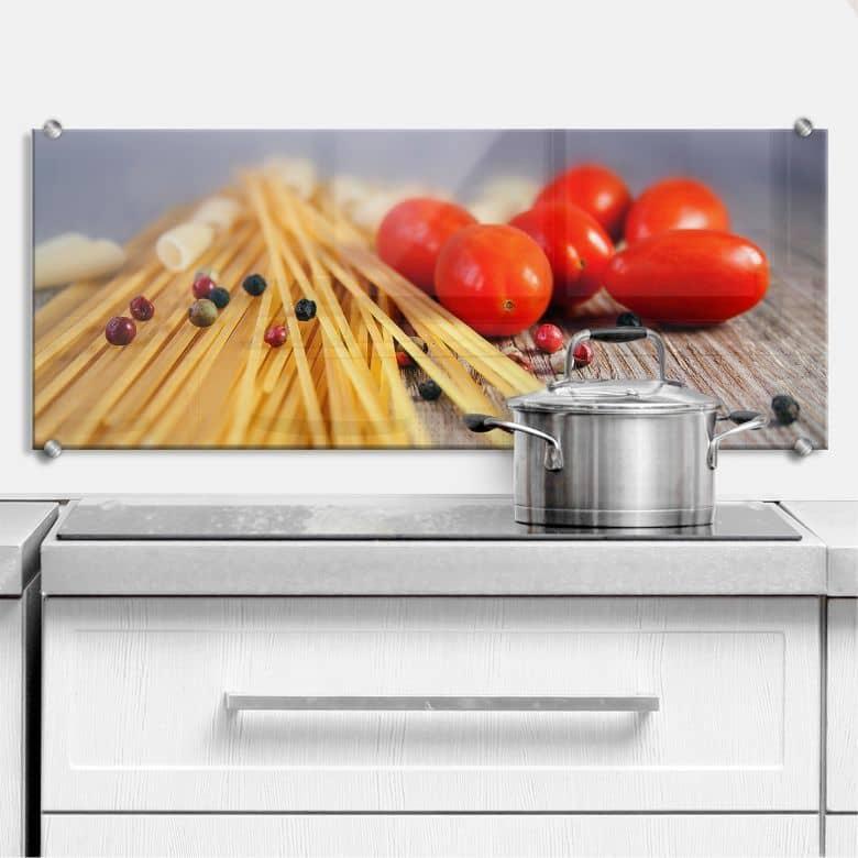 Küchenrückwand Spaghetti alla mamma