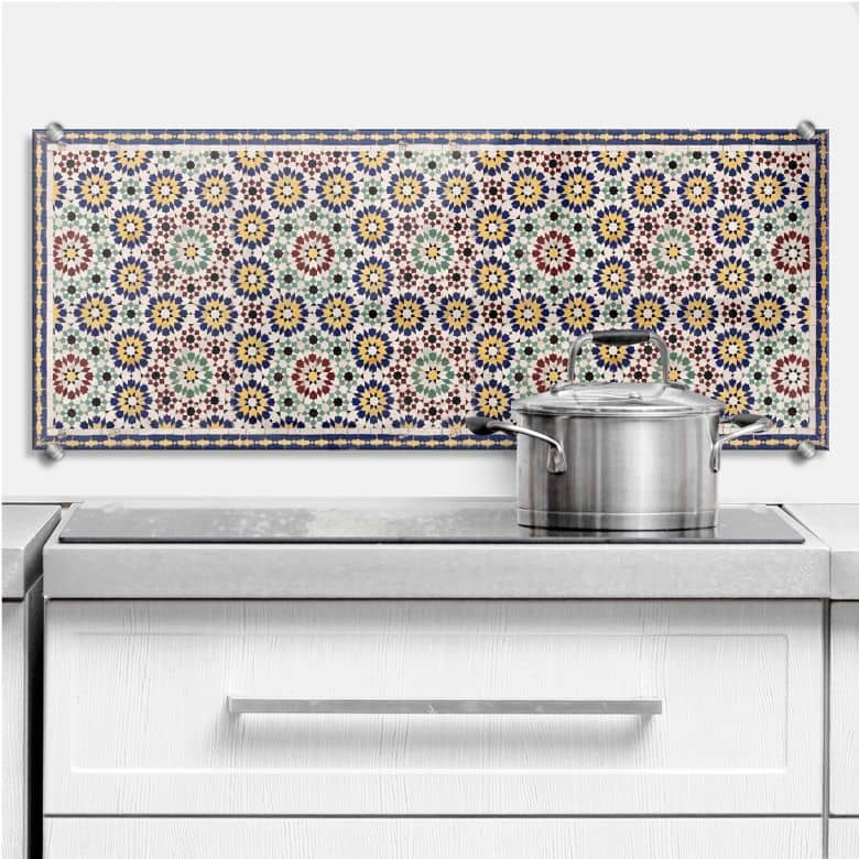 Oriental Tiles 01 - Panorama - Kitchen Splashback