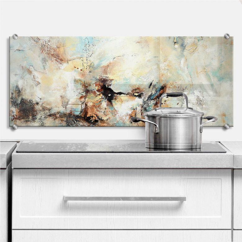 Spritzschutz kuche 40 x 100 - Glasplatte fur kuchenruckwand ...