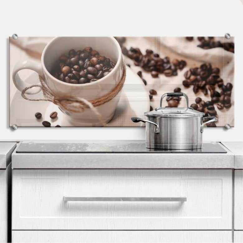 Spritzschutz Kaffee Zauber - Panorama