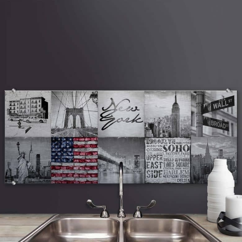 Spritzschutz Impressions of New York City