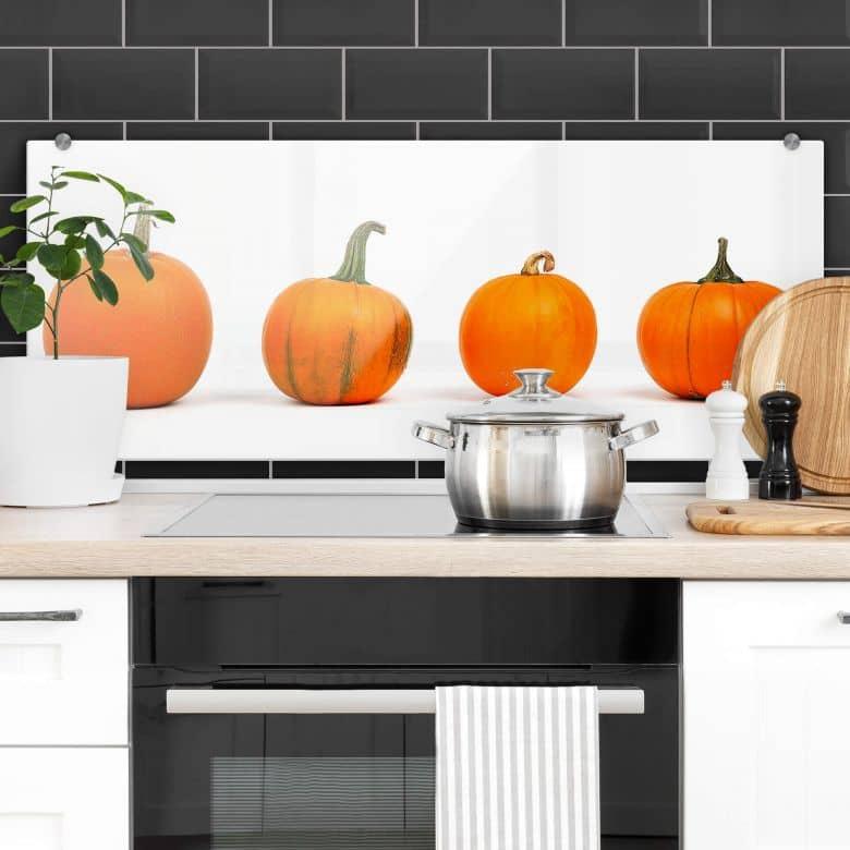Küchenrückwand Kürbissorten - Panorama