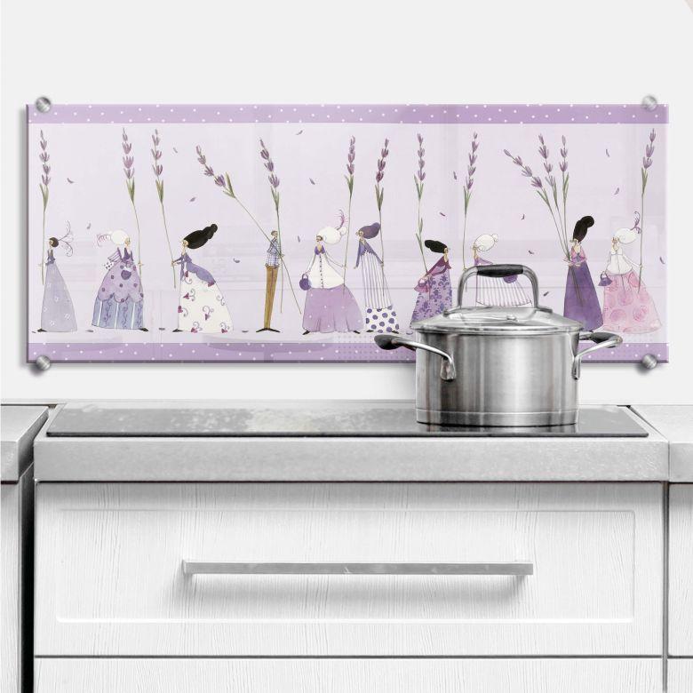 spritzschutz kuche lavendel. Black Bedroom Furniture Sets. Home Design Ideas