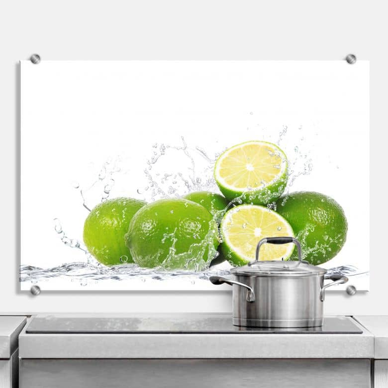 spritzschut splashing limes wall. Black Bedroom Furniture Sets. Home Design Ideas