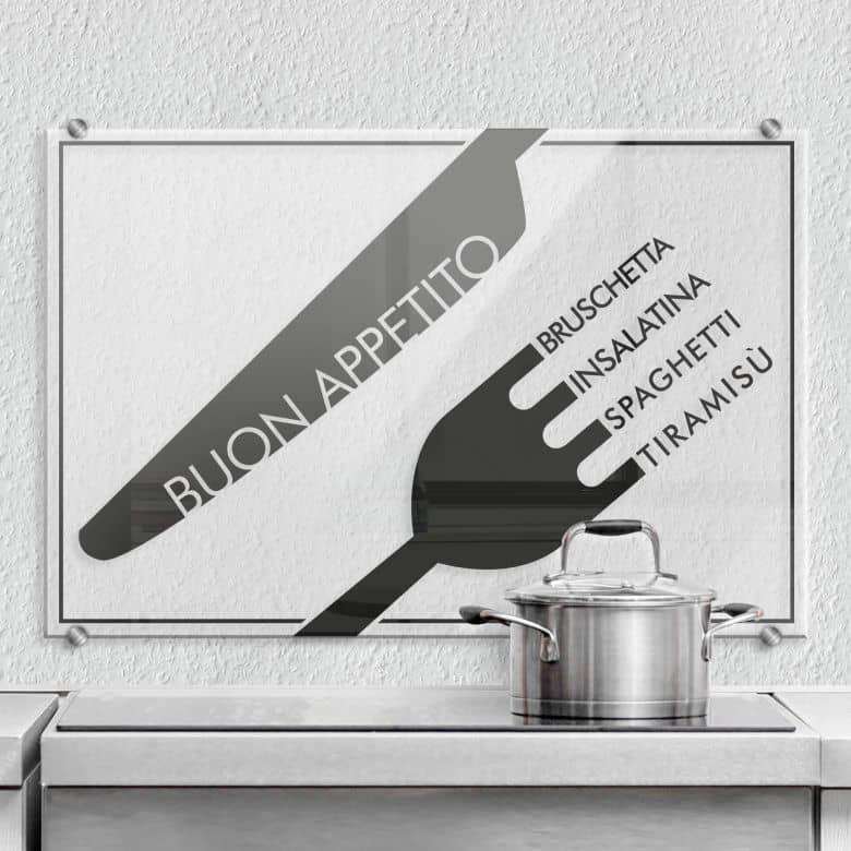 Spritzschutz Transparent - Buon Appetito