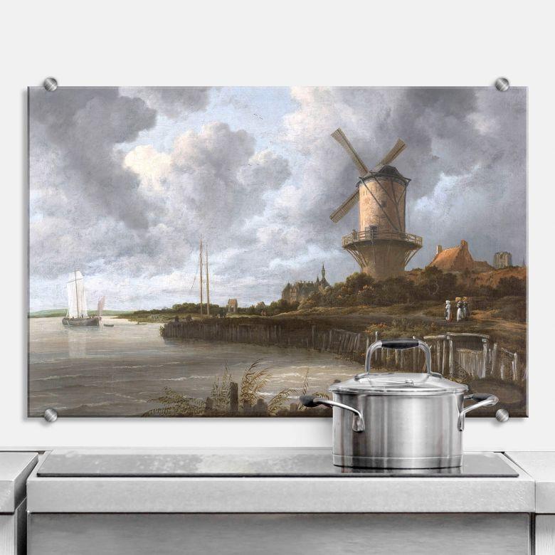 Spritzschutz van Ruisdael - Die Windmühle von Wijk bei Duurstede