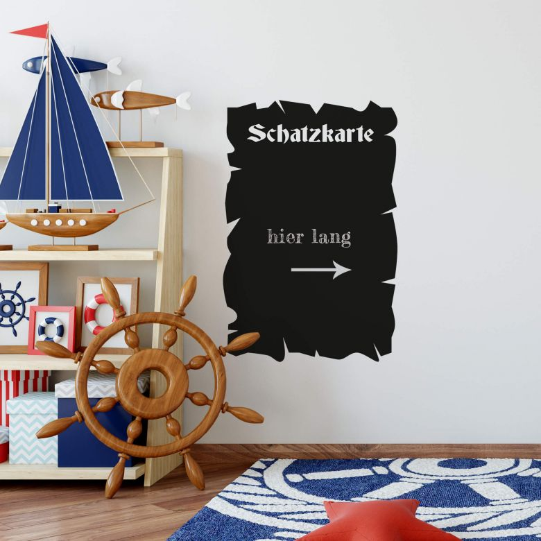 Tafelfolie Schatzkarte