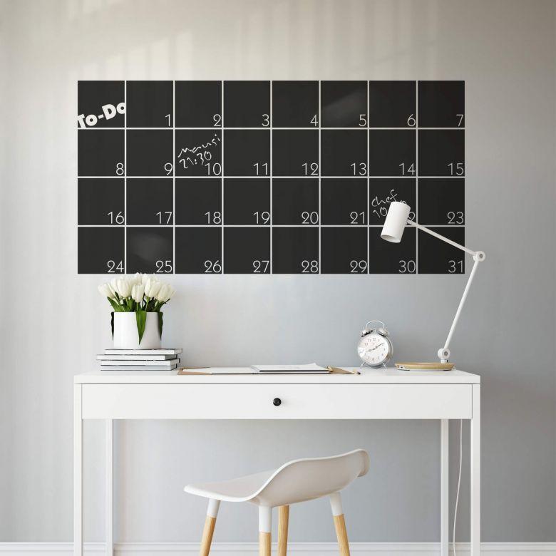 Tafelfolie Monatsplaner 1