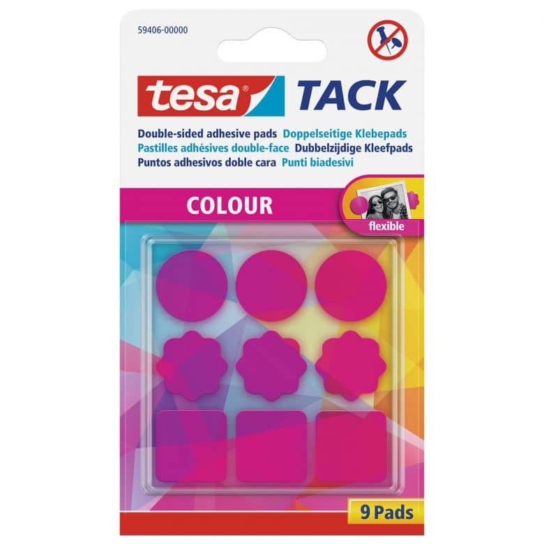 tesa® Tack Coloured Adhesive Pads 9 pieces