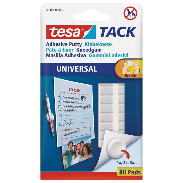 tesa® TACK - Adhesive putty - 80 pieces